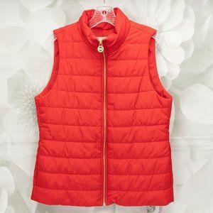 Michael Kors Designer Front Zip Puffer Jacket Vest